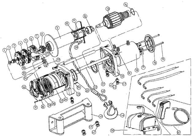 ewi9000 12500 1 t max winches ew series winch parts list,Wiring Diagram For T Max Winch